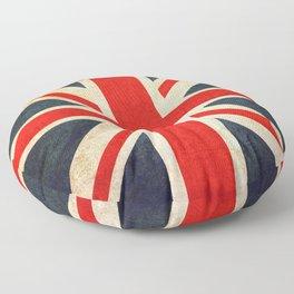 Vintage Union Jack British Flag Floor Pillow