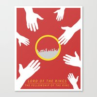 the lord of the rings Canvas Prints featuring Lord of the Rings by KirstenJudkins