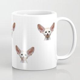 Geometrical Polygon Exotic Pet Fennec Fox Coffee Mug