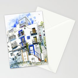 Old town houses and bars - Dalt Vila Ibiza Stationery Cards