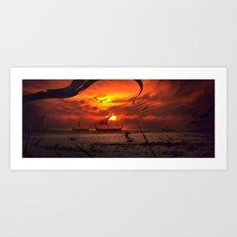 Beach Battlefront Art Print