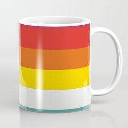Multicolor Retro Stripes Trickster Coffee Mug