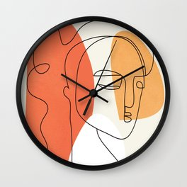 Abstract Face 24 Wall Clock