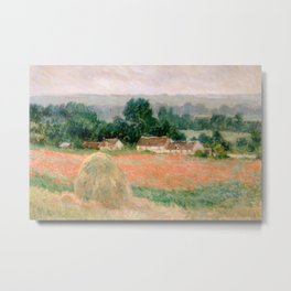 Haystack at Giverny by Claude Monet Metal Print