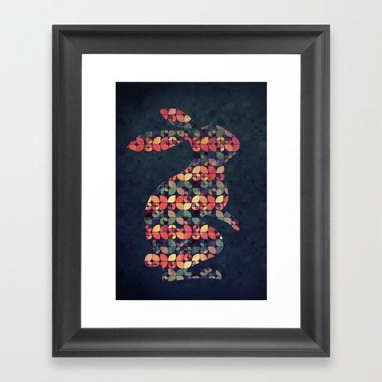 The Pattern Rabbit Framed Art Print