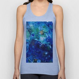 Look Down As The Rain Falls Into The Sea Unisex Tank Top