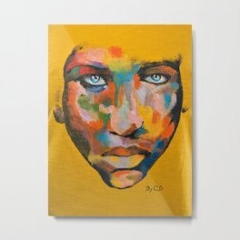 Colored Face Metal Print