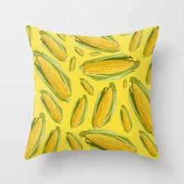 fresh yellow corn Throw Pillow