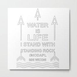 Defend The Standing Rock Metal Print