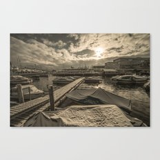 Cold Boats Canvas Print