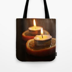 Orange Candles Tote Bag