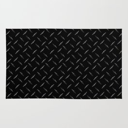 Diamond Plate Black  Rug