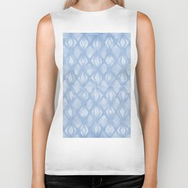 Braided Diamond Sky Blue on Lunar Gray Biker Tank