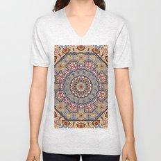 Pottery Tile Kaleidoscope Unisex V-Neck