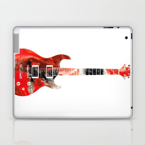 Bass Guitar - Buy Colorful Abstract Musical Instrument Laptop & iPad Skin