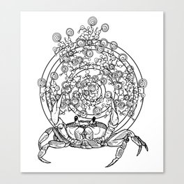Bullseye Crab Canvas Print