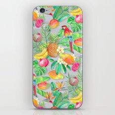 Tropical Paradise Fruit & Parrot Pattern iPhone & iPod Skin
