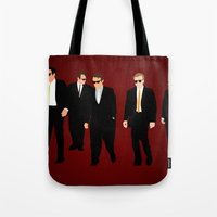 reservoir dogs Tote Bags featuring Reservoir Dogs by Tom Storrer