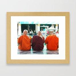 Three Wise Monks Framed Art Print