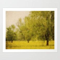 Willowing Art Print