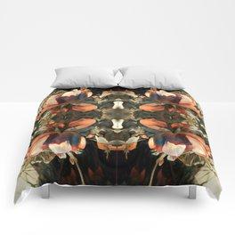 darker brown rose Comforters