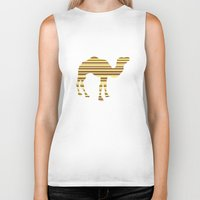 camel Biker Tanks featuring Camel Stripes by Whimsical Notions Design