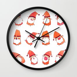 Happy Little Santas Wall Clock