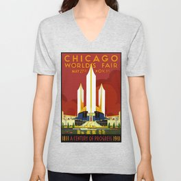 1933 Chicago World's Fair Unisex V-Neck