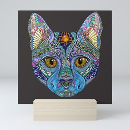 Mystic Psychedelic Cat Mini Art Print