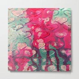 drippy hearts Metal Print
