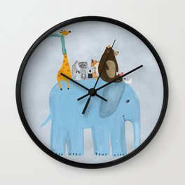 the big blue elephant Wall Clock