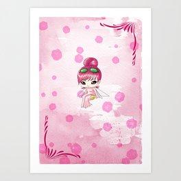 Chibi Morphine Art Print