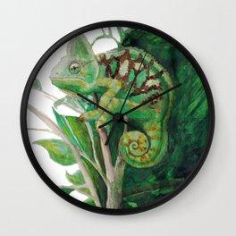 Chameleon in Watercolour Wall Clock