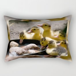 Yellow Muscovy duck ducklings Rectangular Pillow