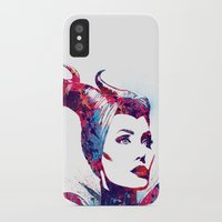 maleficent iPhone & iPod Cases featuring Maleficent by lauramaahs
