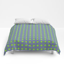 Plus Sign Pattern 1 Comforters