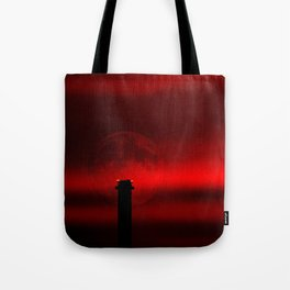 sunset, moon and flight limiting lights Tote Bag