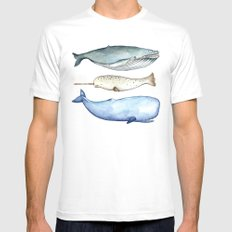 S'whale Mens Fitted Tee White MEDIUM