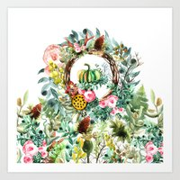 new year Art Prints featuring NEW YEAR by Burcu Korkmazyurek
