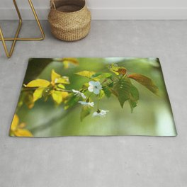 Delicate Spring Blossoms Rug