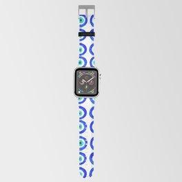 Evil Eye Amulet Talisman - on white Apple Watch Band