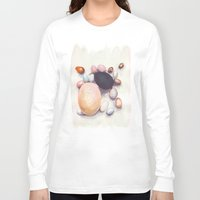 eggs Long Sleeve T-shirts featuring Eggs by Bridget Davidson