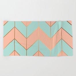 Marble Geometry 059 Beach Towel