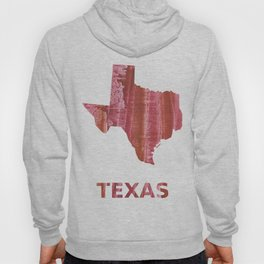 Texas map outline Indian red stained wash drawing Hoody