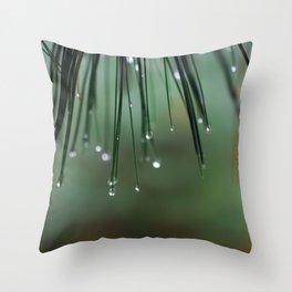 Pearls of Rain Throw Pillow