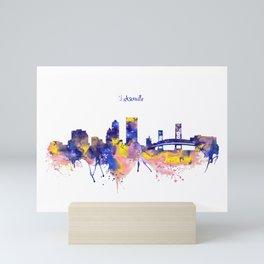 Jacksonville Skyline Silhouette Mini Art Print