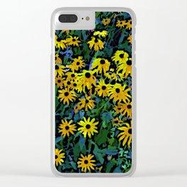 Black-Eyed Susans Clear iPhone Case