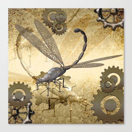 Steampunk, dragonflies Canvas Print