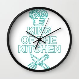 King of the Kitchen Chef Chef Gift Chef's Cap Wall Clock