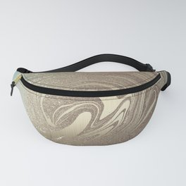 Mermaid Gold Wave 2 Fanny Pack